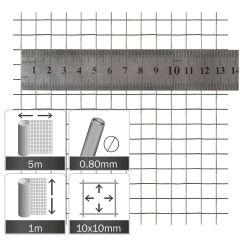 Kuikengaas Verzinkt 10x10x0.8mm - Rol 5x1m