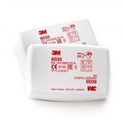 3M P3 filter met Koolstof 6038 (2 stuks)