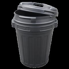 Voerton met draaisluiting 70 Liter Zwart