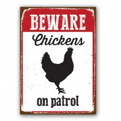 Waakbord: Chicken On Patrol