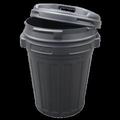 Voerton met draaisluiting 40 Liter Zwart