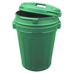 Voerton met draaisluiting 70 Liter Groen