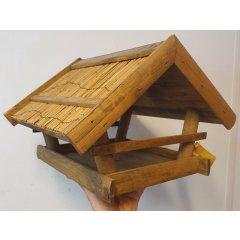 Voederhuis met rieten dak (licht beschadigd)