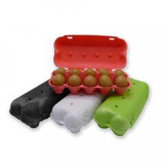 Kleurrijke eierdoos voor 10 eieren - biobase