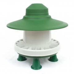 Kippenvoerbak met regenscherm 3kg