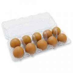 Doorzichtige eierdoos voor 10 eieren